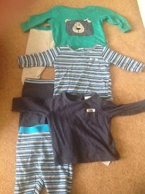 Baby boys Next tops and trousers