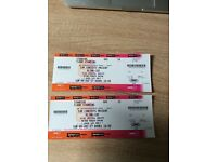 Selling Blink 182 tickets Newcastle and Glasgow
