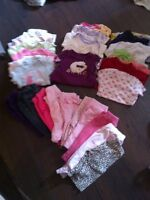 Huge lot nice girls 0-3 month clothing
