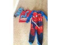 Spider-Man fleecey onesie and pjs