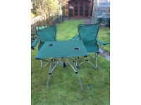 Caravan chairs and table, used