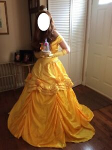 Belle's Gold Dress Costume Size Small
