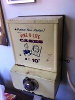 Antique vending machine