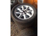 X2 sets alloy wheels