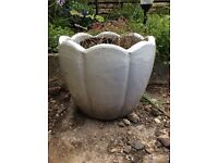 Good Size White Garden Pot
