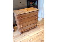Solid pine chest of drawers(still available for sale)