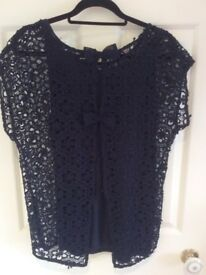 Brand new Next Navy lace blouse