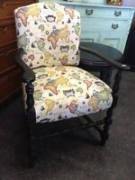 Variety of refinished & all original chairs