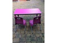 Child's Metalliform Desk and Chairs