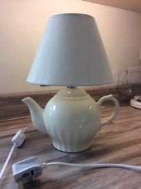 NEXT cream teapot lamp -cream