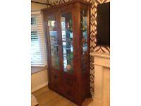 Zanzibar solid oak glass display cabinet