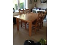 Stornas dining table and 4 Kaustby chairs
