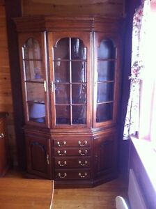 Harden china cabinet set with matching hutch
