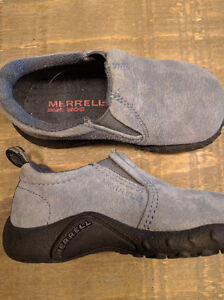 Baby Blue Suede Toddler Merrell Shoes (Size 6) Kitchener / Waterloo Kitchener Area image 1