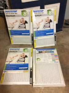 """Dust Stop furnace filters 16"""" x 24"""" x 1"""" 2 packs NEW!!"""
