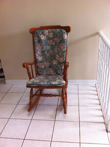 Roxton Solid Maple Rocking Chair with Custom Made Cushions