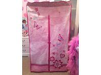 Pink canvas wardrobe