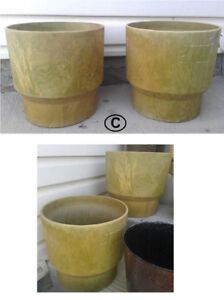 """High Quality FRESCO USA Planters! Double-Ply, 2 Available, D 12"""""""