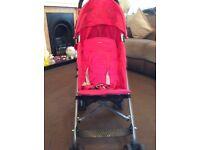 Maclaren triumph scarlet umbrella single seat stroller