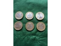 Collection of £2 coins