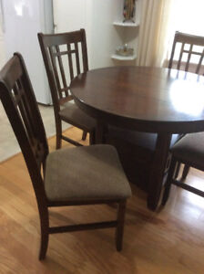 Table and Four Chairs For Sale