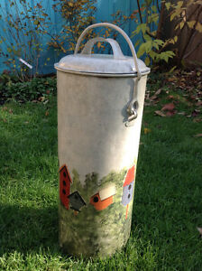 Antique metal creamery can - hand-painted Stratford Kitchener Area image 2