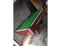 7ft by 5ft coin operated fully working heavy pool table complete