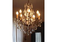 Lovely French antique chandelier vintage style sparkles