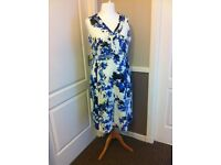 Size 22, Blue and white floral dress
