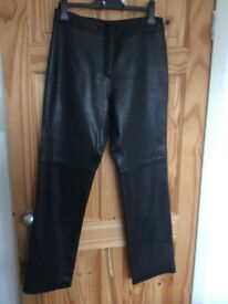 Black leather trousers