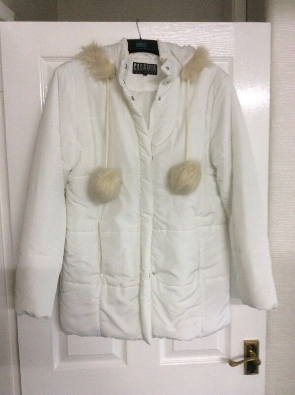 Ladies White Quilted Coat In Llanishen Cardiff Gumtree