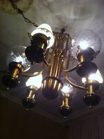 3 feet tall 3 feet wide Huge brass chandelier
