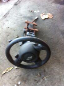 mini cooper s r53 3 spoke steering wheel with airbag