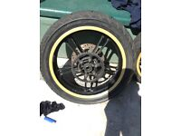 Yzf r125 wheels with tyres