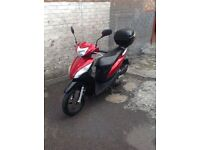 Honda Vision NSC110 2013 RED & BLACK 2600 miles on the clock STERLING