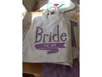 Bridal party wedding bags