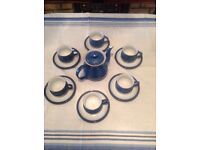 Imperial Blue Denby Tea Set
