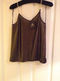 Never worn size 8 gold cami top