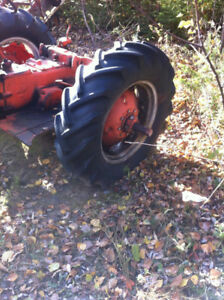 tractor tires loaded on Case rims 12-4 x 24