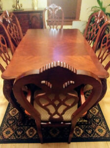 Formal dining set - quality workmanship, excellent condition