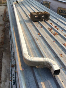 Aluminum downspouts and gutters