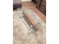 Beautiful glass coffee table and 2 side tables