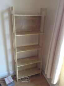 Wooden shelf unit