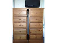 2 Tall chest of drawers