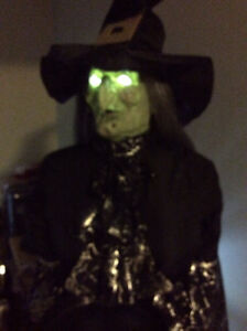 Scary Life size posable Witch