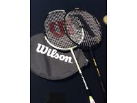 Badminton racquet Wilson wth cover plus another spare racquet