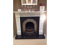 Flat Victorian Complete Marble Fireplace Package