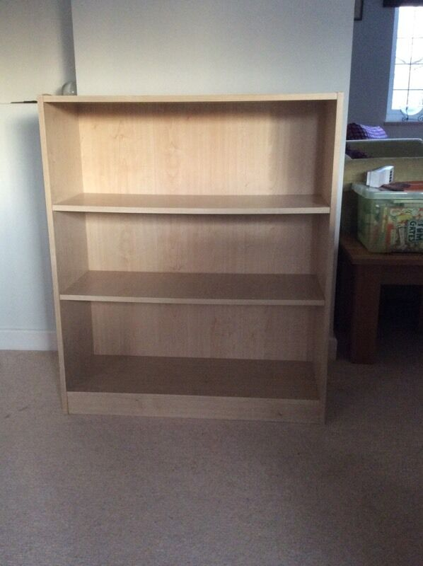 Beech Argos Maine Small Extra Deep Bookcase New 29 99