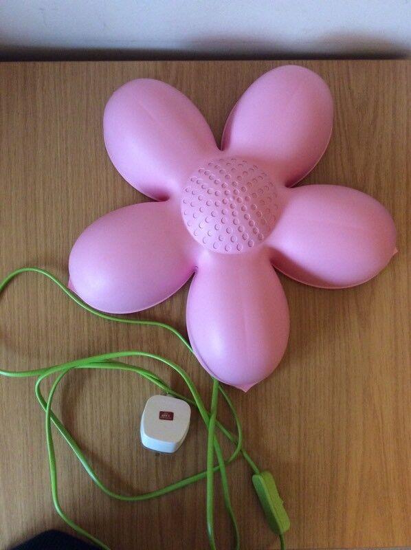 IKEA Smila Blomma Childrenu0027s Bedroom Wall Lamp Baby Night Light Pink