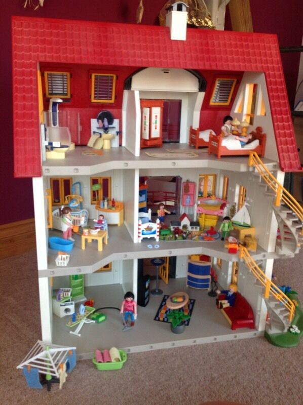 Playmobil Suburban House With Extension U0026 Furniture
